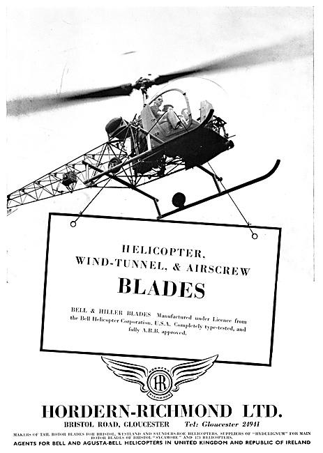 Hordern Richmond - Bell & Hiller Rotor Blades