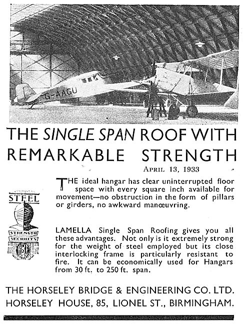 Horseley Bridge Lamella Roofing For Hangars