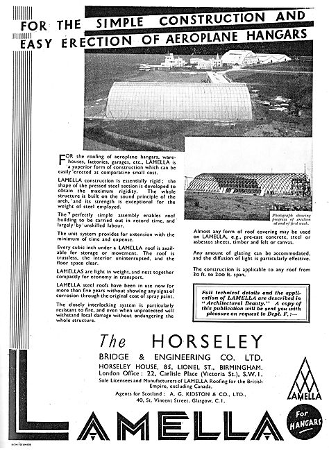 Horseley Bridge Lamella Aircraft Hangars