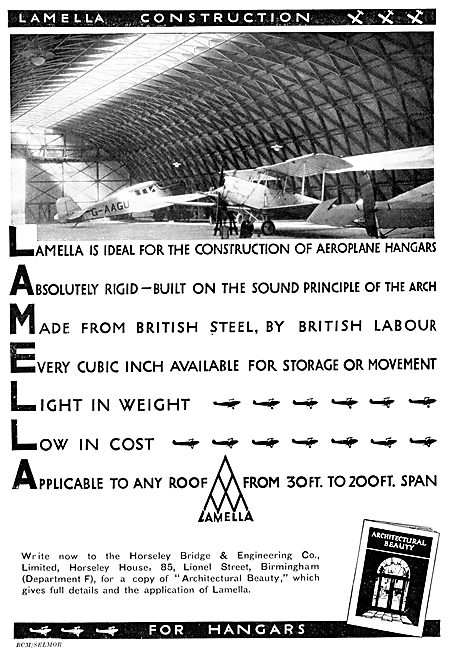 Horseley Bridge Aircraft Hangars Lamella 1931