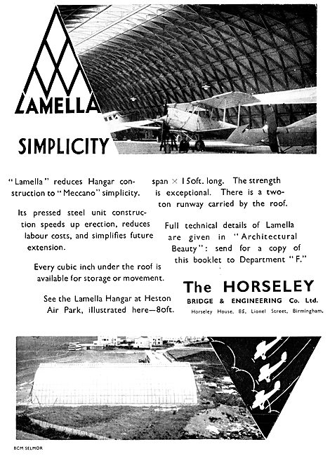 Horseley Bridge Aircraft Hangars Lamella