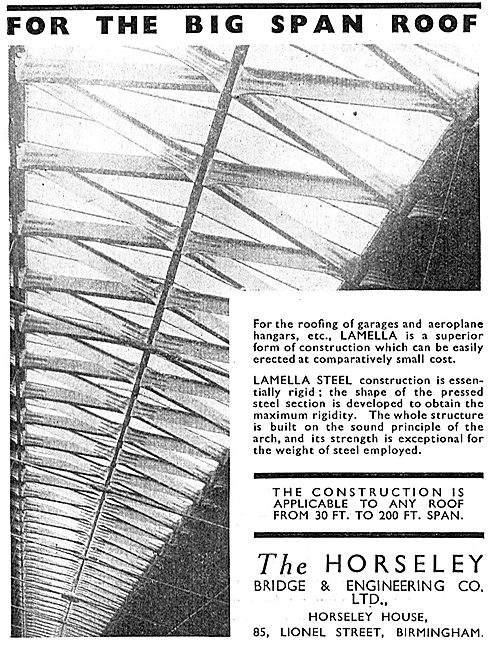 Horseley Bridge Aircraft Hangars - Big Span Roofs