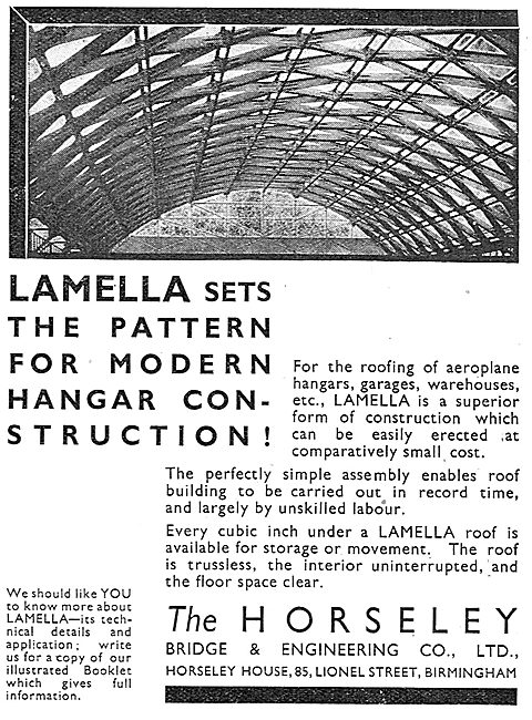 Horseley Bridge Aircraft Hangars - Lamella Sets The Pattern