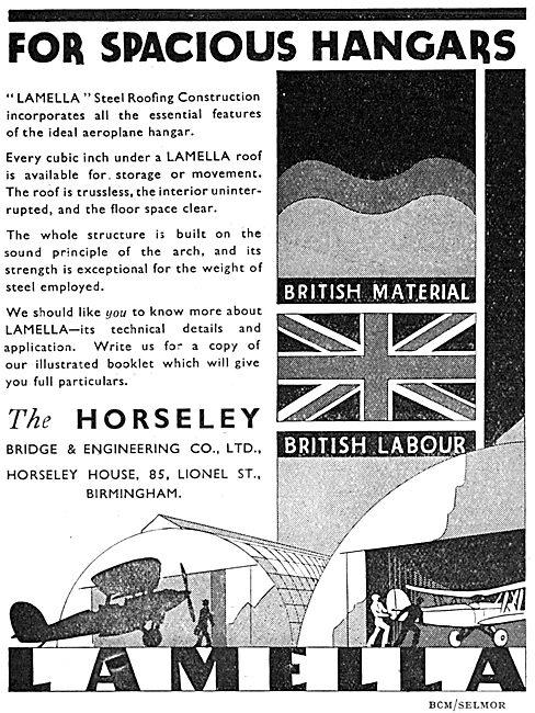 Horseley Bridge Lamella Aircraft Hangars