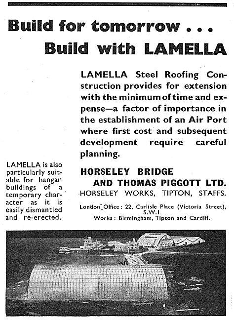 Horseley Bridge Aircraft Hangars - Lamella Roofing