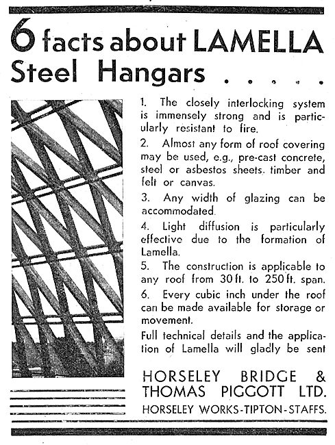 Horseley Bridge Aircraft Hangars  Lamella Steel Hangars