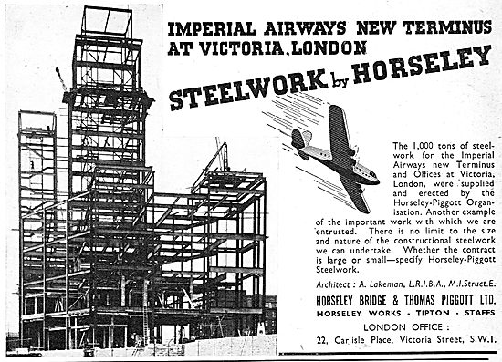 Horseley Bridge Aircraft Hangars - Structural Steelwork 1939