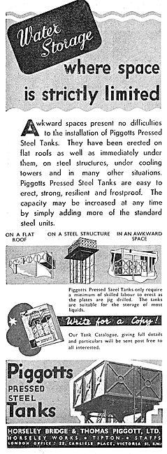 Piggott 's Pressed Steel Fluid Storage Tanks