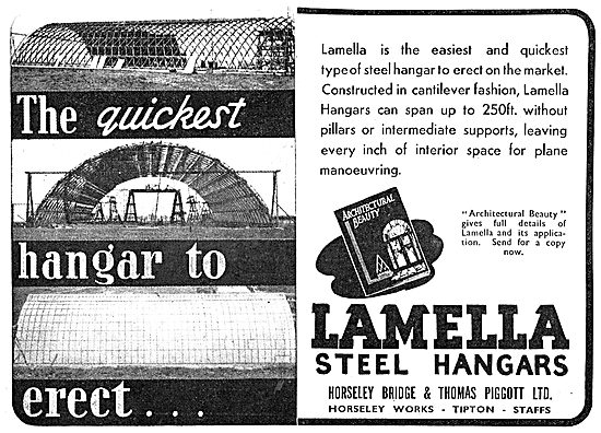 Horseley Bridge Aircraft Hangars - Lamella Construction
