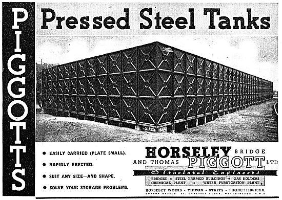 Horseley Piggott Pressed Steel Storage Tanks