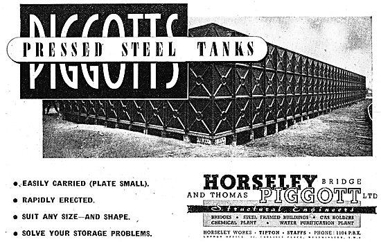 Horseley Bridge & Thomas Piggott Storage Tanks 1942