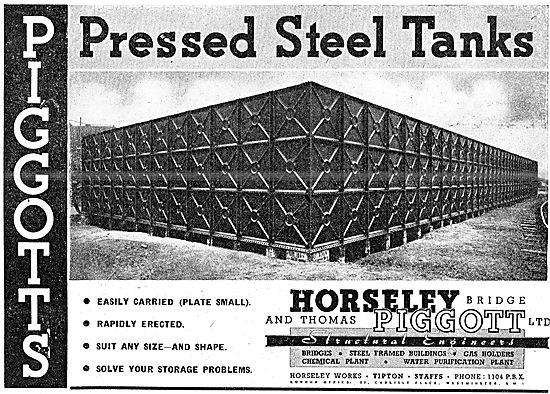 Horseley Bridge & Thomas Piggot Pressed Steel Storage Tanks