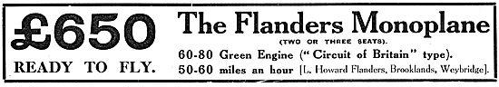 Howard-Flanders - Flanders Monoplane - 60 HP Green