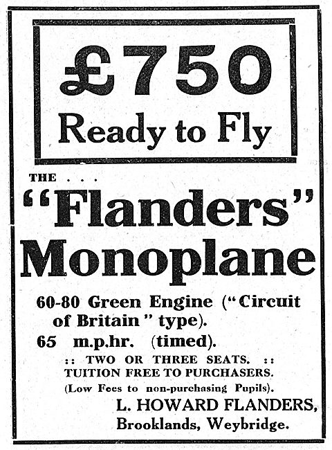 Howard-Flanders - Flanders Monoplane - Brooklands