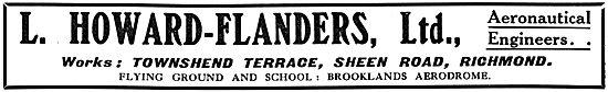 Howard-Flanders - Aeronautical Engineers. Flying Tuition