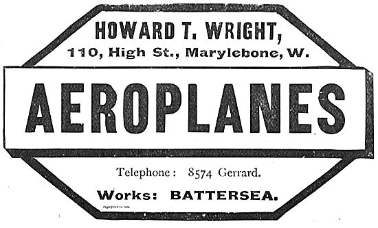 Howard T. Wright Aeroplane Manufacturers