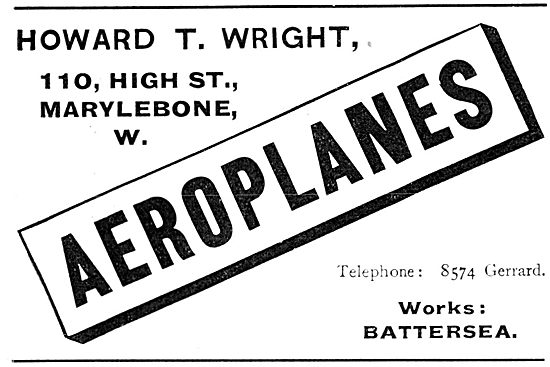 Howard T. Wright Aeroplanes
