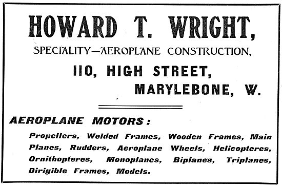Howard T. Wright -  Aeroplane Construction