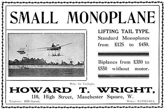 Howard T. Wright Small Monoplane