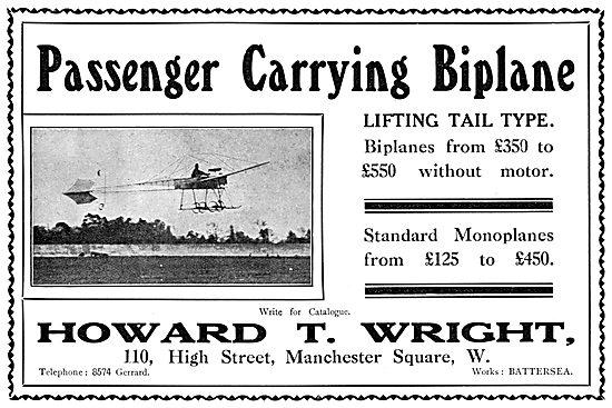 Howard T. Wright Passenger Carrying Biplane