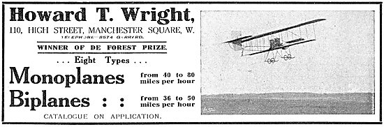 Howard T. Wright Monoplanes & Biplanes