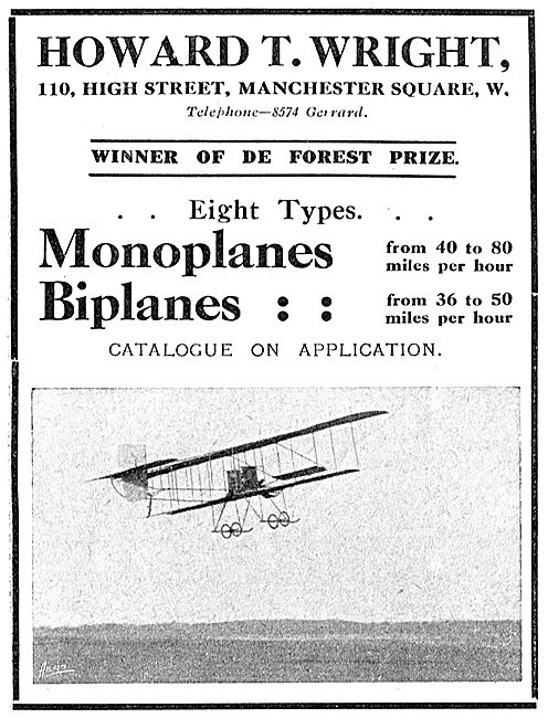 Howard T. Wright - Monoplanes & Biplanes