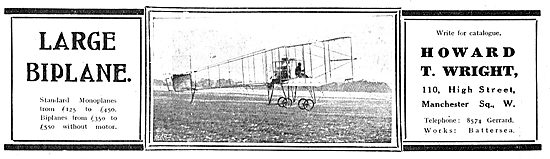 Howard T.Wright Large Biplane - Write For Catalogue