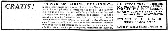 Gratis! Hints On Lining Bearings : On Request From Hoyt Metal Co