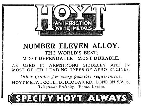 Hoyt Number 11 Metal Bearings