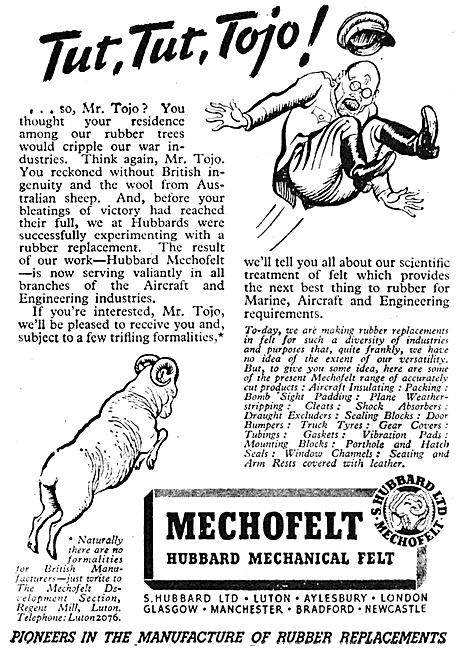 S.Hubbard - Felt Products For Aviation. Mechofelt Mechanical Felt