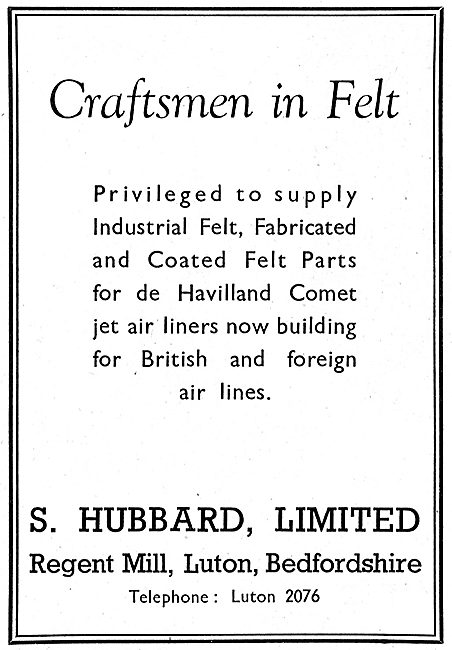S.Hubbard - Felt Products For The Aviation Industry