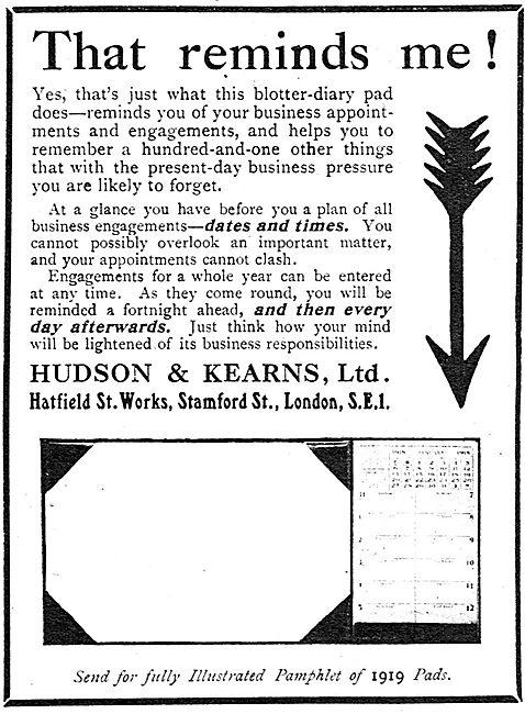 Hudson & Kearns - Office Equipment, Blotters & Desk Diaries