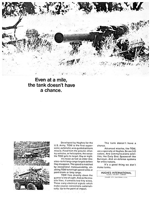 Hughes TOW WIre Guided Anti Tank Missile
