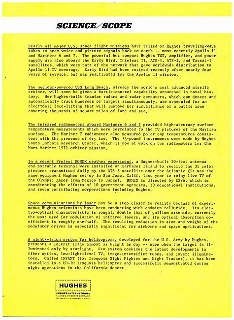 Hughes International Science / Scope Bulletin