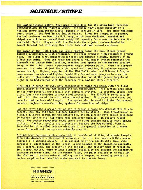 Hughes International Science / Scope