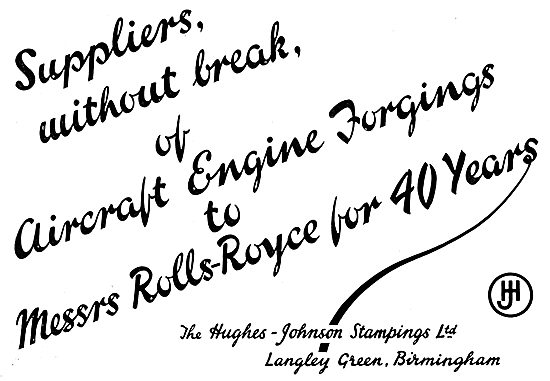 Hughes-Johnson Stampings For The Aircraft Industry