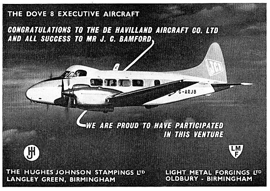 Hughes-Johnson Stampings Used On The D.H.Dove 8