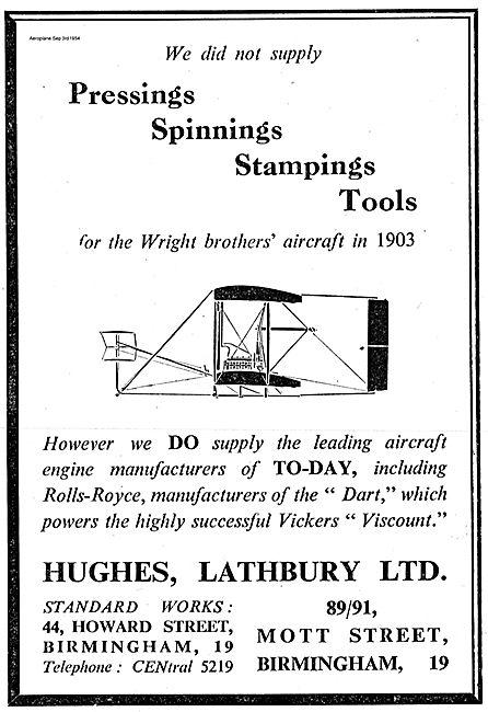 Hughes Lathbury Aircraft Pressing, Spinnings & Stampings