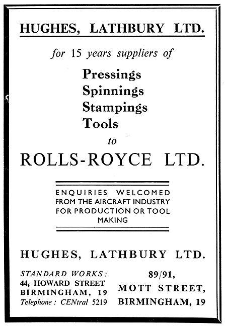 Hughes Lathbury Pressings,Spinnings & Stampings