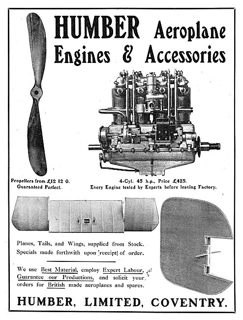Humber Aircraft, Engines & Accessories