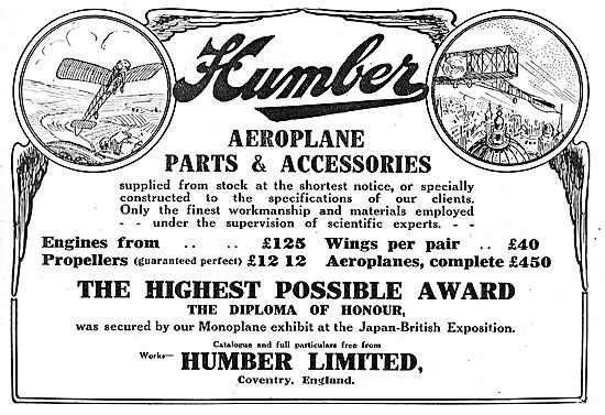 Humber Aeroplane Engines From Stock - From £125