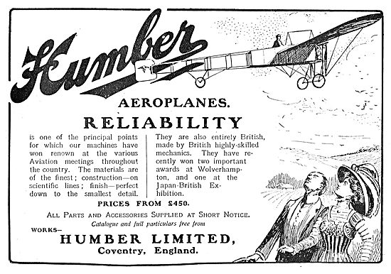 Humber Build Reliable Aeroplanes