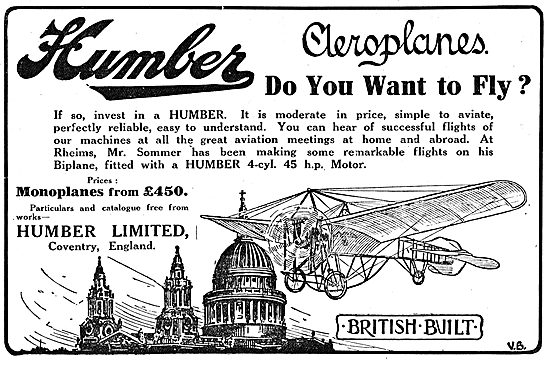 Invest In A Humber Aeroplane