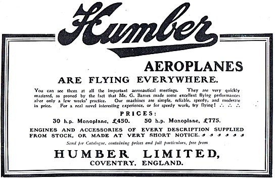 Humber Aeroplanes Are Flying Everywhere