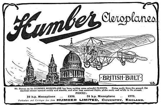 Humber Ltd Coventry - Aeroplane & Aero Engine Manufacturers
