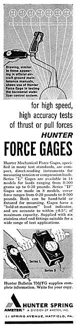 Ametek Hunter Spring - Force Gauges