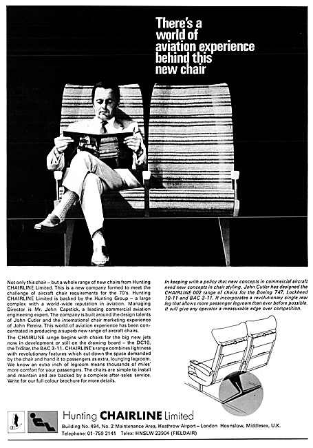 Hunting Chairline Aircraft Seating