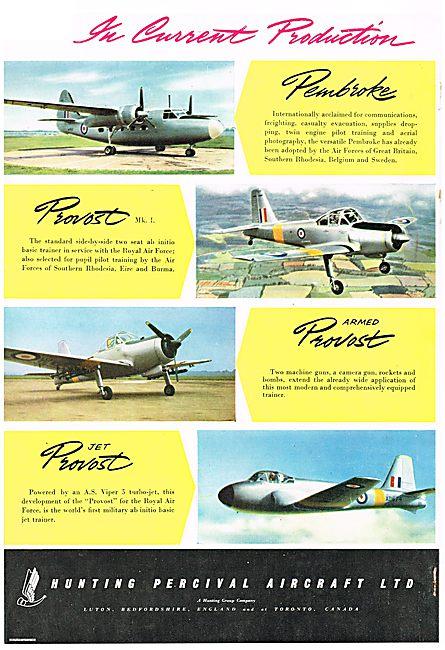 HuntingPercival Jet Provost, Armed Piston Provost & Pembroke