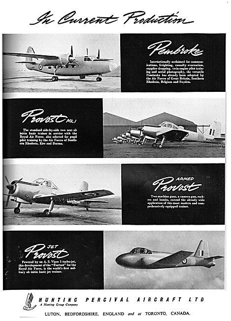 Hunting Percival Aircraft 1955