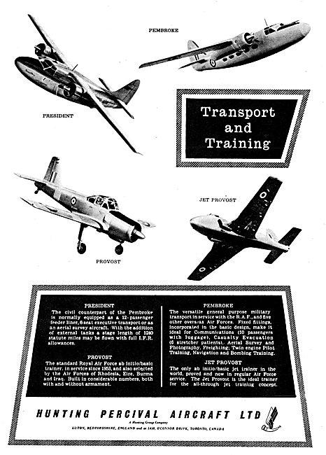 Hunting Percival Aircraft 1956